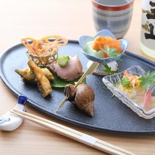懐石料理を単品から。気軽に本格和食が楽しめる人気店舗。