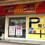 丸金餃子 - お休みと駐車場の案内