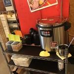 日比野市場鮮魚浜焼きセンター - 味噌汁はセルフ