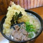 なか浦 - つるにく  天ぷらうどん(鶴)の肉あり¥900