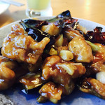 柏ノ木 - ナスと鶏肉の甘辛煮炒め