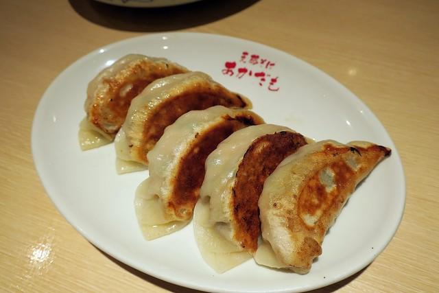 お食事処 あかだも - 特製手作り餃子5個¥400