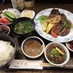 70676985 - リブロース ステーキ定食 4320円 (2017.7)