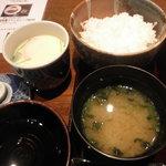 Tsukiusagi - 味噌汁・ご飯・茶碗蒸し