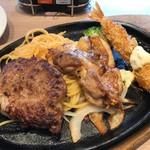 ステーキのどん - 金曜日ランチの内容、色々入ってるんで、ちょっと贅沢感