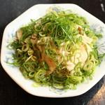 多度津 - 蒸し鶏ネギポン酢490円