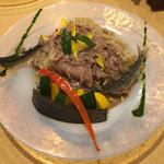 饗 くろ喜 - くろ㐂の夏麺第5弾「鮎と茄子の和えそば」1600円