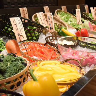 新鮮野菜をたっぷりお楽しみ頂ける~お野菜ビュッフェ~