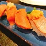 70686435 - 牛たん握り寿司