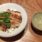 とり喜 - きじ丼 + スープ