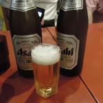 じょっぱりラーメン - 中瓶ビール500円