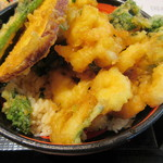 天ぷら かき揚げ 新次郎 - 名物エビかき揚げ丼