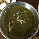インドレストラン ガンジーパレス - チキンサグワラ……\1,200