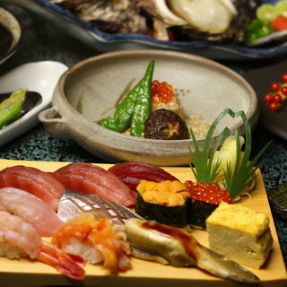 寿司と和食、W職人による本格メニューをご提供!