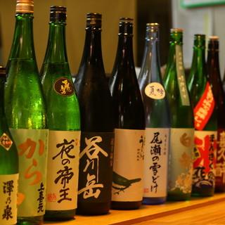 寿司に一級の日本酒を。常に新酒を迎えるこだわりの品揃え