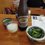 開運 塩大福 すがも園 - 中瓶ビール450円