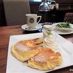 桜屋珈琲館 - リコッタチーズパンケーキ ランチ