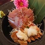 Shrimp Dining EBIZO kashiwa - 団扇海老のお刺身(*^^*)