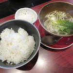 白金ビーフ - 【ご飯・スープ・漬物】