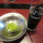 白金ビーフ - 【抹茶アイス】と【アイスコーヒー】