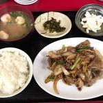 珉珉 - ジンギスカン定食 750円(税込)