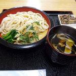 肉汁うどん青柳 - ざるうどん[(かき揚付)(小500円)_2011-03-07