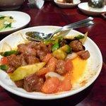 刀削麺・火鍋 XI'AN - 羊とトマトの炒め物