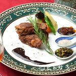 ヌーベルシノワ Ishibashi - 中華料理独特の調理法で焼きあげた『牛サーロインの焼き物、三種の醤添え』