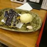 70706305 - 天ぷら(茄子、半熟たまご)