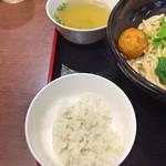 70707127 - 湖南伝統ピリ辛揚げゆで卵 + ミニライス + スープ