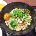 李湘潭 湘菜館 - 濃厚汁無し担々ビーフン + 湖南伝統ピリ辛揚げゆで卵