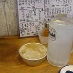 江古田ホルモン - 生レモンサワー。氷は七輪用