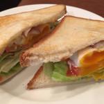 UCCカフェプラザ - セットのサンドウィッチ。美味しいです。