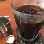 UCCカフェプラザ - アイスコーヒー。コーヒーの香りがすごく良く、あまりコーヒーを飲まない人も美味しく感じると思います。