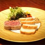 タパス・エ・バール - 石川県産 猪肉のパテ 1600円