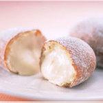 北菓楼 - シュークリーム「イタリアンミラノシュー」 ドーナツ風? 油で揚げたシュー皮はもっちり。 カスタードクリーム