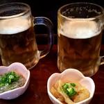 春来 - 生ビールで乾杯(^^♪