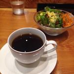 70716222 - 本日のコーヒーとランチセットのサラダ
