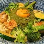 東京煮干屋本舗 - SPICY GREEN マゼカレー 900円