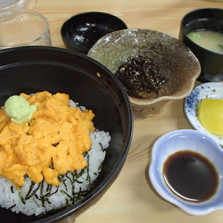 磯焼亭 - 料理写真:生うに丼のセット