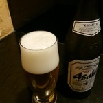 かいせき あづま路 - 瓶ビール。