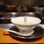 竹末東京Premium - スープ投入!