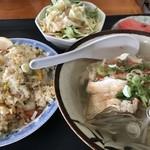 ユワデーのタイ料理 - 料理写真:チャーハンとラーメンのセット 850円