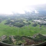 フィオレンティーナ - 畑とゴルフ場が見えてくると