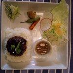 花庵 - 赤ワインソースのハンバーグ