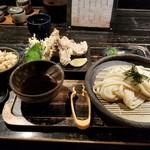 70730504 -  鶏ささみ天ざるうどん & 炊き込みご飯