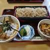 花村 - 料理写真:半かつ丼+志の田セット 880円