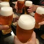 どうげん - 生ビールで乾杯