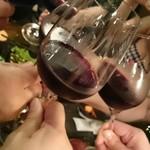 どうげん - 赤ワインで乾杯