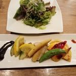 円居 - 焼き野菜&本日のサラダ